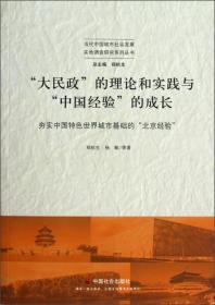 """当代中国城市社会发展实地调查研究系列丛书:""""大民政""""的理论和实践与""""中国经验""""的成长:夯实中国特色世界城市基础的""""北京经验"""""""