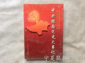 中共银南党史大事记