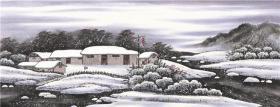 小六尺横幅 国画 精品山水【雪景图4】未装裱画芯 多尺寸销售T