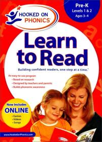 Hooked on Phonics: Learn to Read, Pre-K Complete  迷上自然发音法-学习阅读:Pre-K级 英文原版