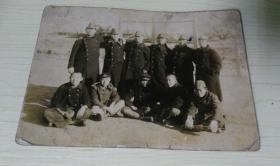老照片 带日本兵帽 合影