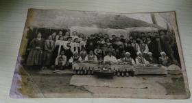 老照片 朝鲜 家族合照