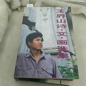 王界山 诗 文 画 选集(作者签名赠本) 1995年一版一印仅印3000册
