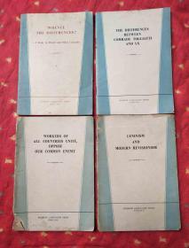 英文版4册合售:全世界无产者联合起来反对我们的共同敌人;陶里亚蒂同志同我们的分歧;分歧从何而来?-答多列士等同志;列宁主义和现代修正主义
