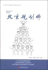北京盛方咨询集团文化旅游经济丛书:北京规划师