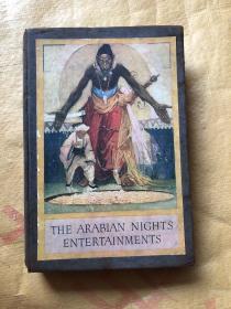 1817年版  The Arabian Nights Entertainments(16开布面精装  100多幅版画插图)毛边本