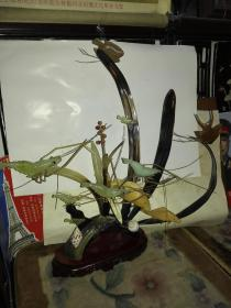 八九十年代纯手工水牛角雕摆件(收藏佳品)