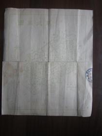 民国36年上海市地政局户地图(背面是闸北区图)