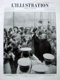 1927年4月16日法国原版老报纸《LILLUSTRATION》—蒋介石来到汉口