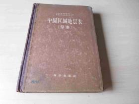 中国区域地层表【草案】