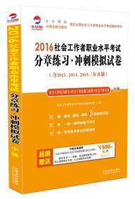 2016社会工作者职业水平考试分章练习冲刺模拟试卷(中级)