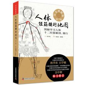 人体经筋循行地图:图解学习人体十二经筋解剖、循行:完全图解版