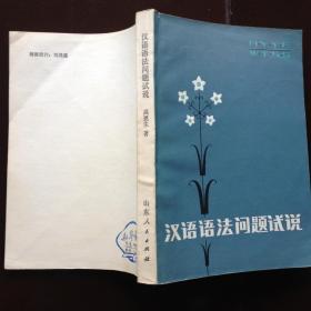 汉语语法问题试说  内页未阅