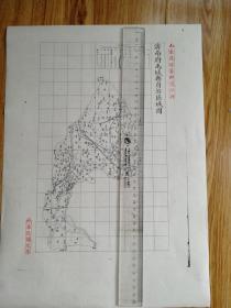 济南府禹城县自治区域图【该地最早的按比例尺绘制的地图】