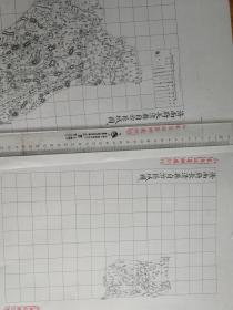 济南府长清县自治区域图甲乙两张【该地最早的按比例尺绘制的地图