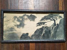 黄山莲花峰,杭州纺锦制,织绣画