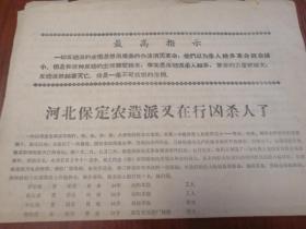 文革传单:河北保定农造反派又在行凶杀人了 1968年 8开