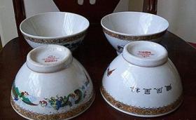 醴陵瓷碗4个