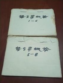 语言学概论手写稿本(北京外国语学院北京外国语学院教务长罗俊才家流出来的)