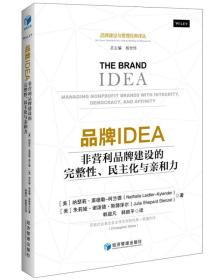 品牌IDEA 非营利品牌建设的完整性、民主化与亲和力