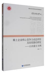 内蒙古科技大学文库 稀土企业核心竞争力动态评价及培育路径研究:以内蒙古为例