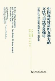 中国反对针对妇女暴力的立法与司法实务探讨