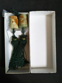 16492_:回流大理石风镇一对(带纸盒)