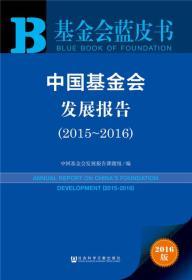 2015-2016-中国基金会发展报告-2016版