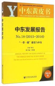 """中东发展报告(2016版 2015-2016 No.18 """"一带一路""""建设与中东)"""