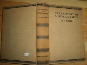 EXPERIMENT IN AUTOBIOGRAPHY(毛边外文书,请看图。)精装16开