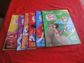 迪士尼英语家庭版)迪士尼乐动英语:跟我一起唱、时钟响当当、世界真奇妙、亲友大联欢、动物小合唱、游戏大比拼(6本合售)(无光盘)