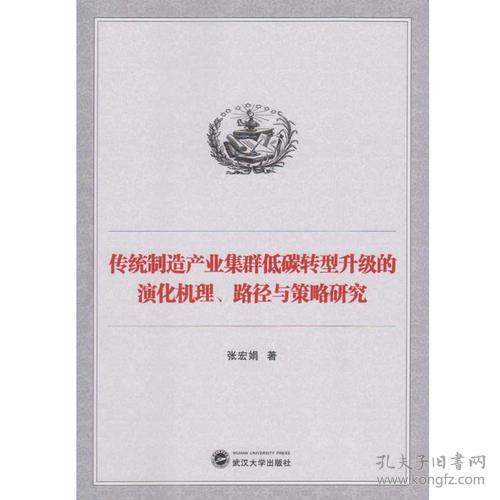 传统制造产业集群低碳转型升级的演化机理、路径与策略研究武汉大学张宏娟9787307160217