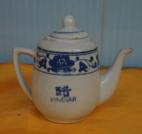 青花瓷醋壶高10厘米腹径7厘米