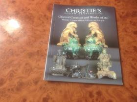 英文版佳士得拍卖图录,1999年《东方陶艺作品》之三,CHRISTIES SOUTH KENSINGTON , Oriental Ceramics and WORKS OF ART