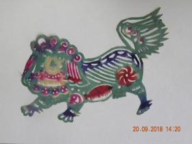 山西民间老艺人剪纸-狮子(50年代)