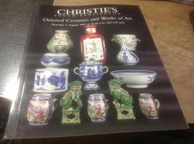 英文版佳士得拍卖图录,1999年《东方陶艺作品》之四,CHRISTIES SOUTH KENSINGTON , Oriental Ceramics and WORKS OF ART