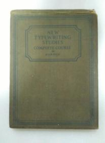 NEW TYPEWRING STUDIES COMPLETE COURSE 精装本 1930年出版 民国时期打字机排版打字教程