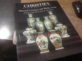 英文版佳士得拍卖图录,1999年《东方陶艺作品》之六,CHRISTIES SOUTH KENSINGTON , Oriental Ceramics and WORKS OF ART