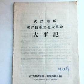武汉地区无产阶级文化大革命  大事记