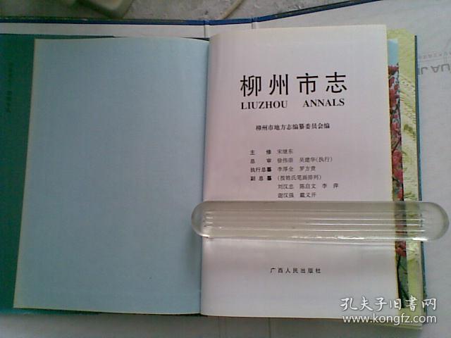 柳州市志 第三卷