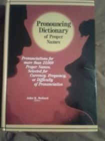 Pronouncing Dictionary Of Proper Names: Pronunciations For More Than 23 000 Proper Names  Selected F