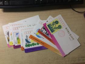 上海市郊县邮电局成立十周年纪念封 8枚 不重复