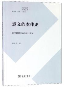 意义的本体论:哲学解释学的缘起与要义/北大美学研究丛书