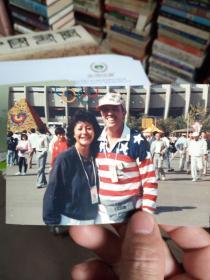 88年奥运照片一张  有签名