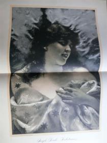 【现货】1888年巨幅木刻版画《Liehestiams》(Liehestiams)尺寸约54.2*40.8厘米 (货号600220)