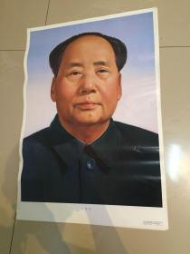 2开年画 毛泽东像 二张合售