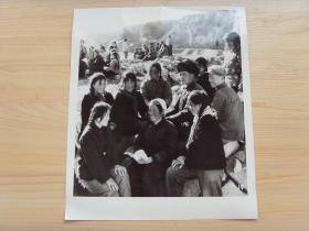 超大老照片:1976年,甘肃通渭县布路大队,革委会副主任马淑珍