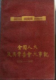 《全国人大及其常委会大纪事1954-1987》