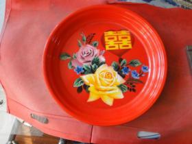 (红玫瑰牌)搪瓷盘,品佳,中国沈阳市搪瓷厂