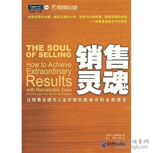 销售灵魂:让销售业绩与人生价值完美结合的全新理念